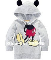 Free Shipping 2013 New Arrival Child Boys Girl Hoodie Long Sleeve Hoodies Mickey Minnie mouse cartoon top kids t shirts