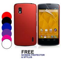 Hybrid Hard Case Cover For Nexus 4 E960+ Screen Protector