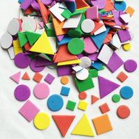 900PCS/LOT.EVA foam irregular geometric figure stickers,Foam puzzle stickers,Wall sticker,Early educatioal toys,Kindergarten toy