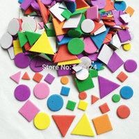 900PCS/LOT.EVA foam irregular geometric figure stickers,Foam puzzle stickers,Wall sticker,Early educatioal toys,Kindergarten toy