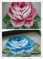 Free shipping good quality  handmade rose art carpet art rug/floor mat  for bedroom/ Living room romantic rose 80*60cm