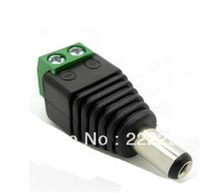 free shipping 2.1*5.5mm Male CCTV camera DC Power Jack Connector cctv security surveillance system male bnc plug 10pcs/lot