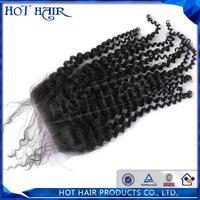 Most popular mongolian kinky closure 100%remy virgin mongolian hair
