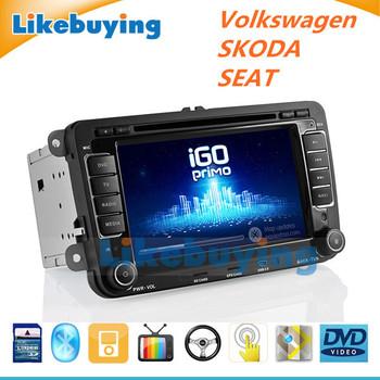2 Din car DVD Player GPS Radio for VW Volkswagen Passat,CC,GOLF,Scirocco,CADDY,POLO,TIGUAN,TOURAN,Jatta,SEAT,Skoda, Free 8G Map