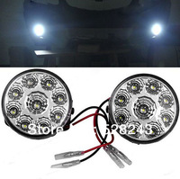 New 2PCS LED Working Light Spot Flood Lamp Motorcycle Tractor Truck Trailer 12V Round DRL Bright Headlight Free Shipping