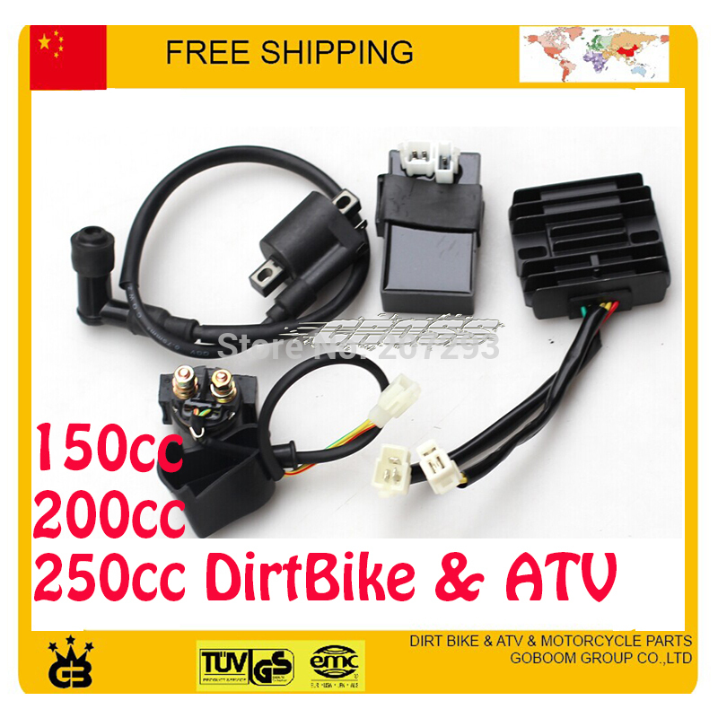 LONCIN ZONGSHEN lifan 150cc 200cc 250CC engine CDI+ IGNITION COIL+RELAY + RECTIFIER atv dirtbike motorcylce parts free shipping(China (Mainland))
