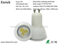The most popular products!Nichia chips high lighting efficiency 3W GU10 led spotlight free shipping