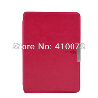 New Design Magnet Closure PU Leather Smart Case Covers For Amazon Kindle Paperwhite With Strip Wake UP Sleep Fuction Blue red