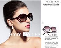 2013 Hot Sale Luxury Sunglasses Women Brand Designer Bamboo Glasses Free shipping