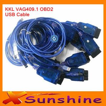 2014 Lower Price KKL USB OBD2 OBDII Auto Diagnostic Tools KKL 409.1 OBD2 USB Cable Car Diagnostic Cable Best Quality