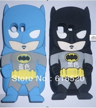 Retail 1pcs/lot 3D Cute Superman Hero Batman Soft Silicon TUP Skin Back Cover Case for Samsung Galaxy Ace S5830