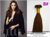 "Top Quality Flat Tip Keratin Hair Extensions, 8#,22"" 25strands 100% Indian Remy Keratin Human Hair Fast Shipment"