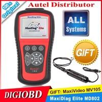 2015 Original AUTEL MaxiDiag Elite MD802 Full system+DS model 4 in 1 auto scanner Original MD 802 PRO All system Autel MD802