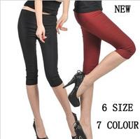 2015 summer plus size clothing elastic pencil pants capris skinny legging pants s-xxxl 6 SIZE
