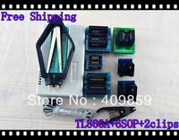 Free shipping V6.0 Russian Manual TL866A+PLCCclip+SOP8/16/28 USB Universal Bios programmer ICSP FLASH\EEPROM TSOP