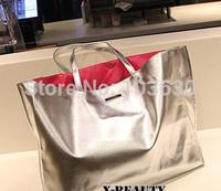 The new 2014 portable shopping bag of silver glitter bag beach bag son mother handbags women bill of lading shoulder bag