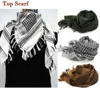 US SWAT Arab SAS Shemagh Kafiya Scarf Mask Fashion Men Women Scarf Green+khaki+White Long Scarf Shawl  free ship