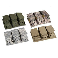 Outdoor Sport High Quality Nylon Molle M4 Triple Mag Pouch tactical  Bag