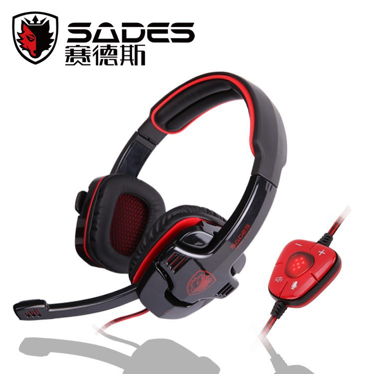 Top Quality Sades gaming headset 7.1 Channel Surround Sound Headphone with Mic Remote Control Usb computer earphone for PC game(China (Mainland))
