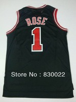 free shipping chicago Derrick Rose #1 men sew stitch Embroidery basketball jersey customize logo home white red away black green