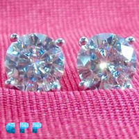 2CTW 14kt White Gold Wedding Jewelry Diamond Earrings Test Positive Lab Grown Moissanite !The World's Most Brilliant Gemstone