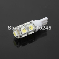 100x Car Auto LED T10 194 W5W 9 led smd 5050 Wedge LED Light Bulb Lamp 9SMD White/Green/Blue/Red/Yellow Free shipping