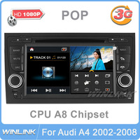 "7"" HD 2 Din Car DVD GPS Video Player for Audi A4 S4 RS4 2002-2008 with 3G/WiFi A8 Chipset Russia Free Shipping"