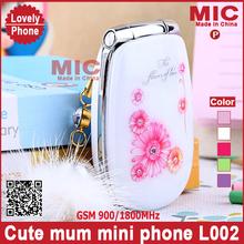 Flip Russian menu lovely unlocked luxury special small women kids girls ladies cute mini cell mobile phone L002 cellphone P52