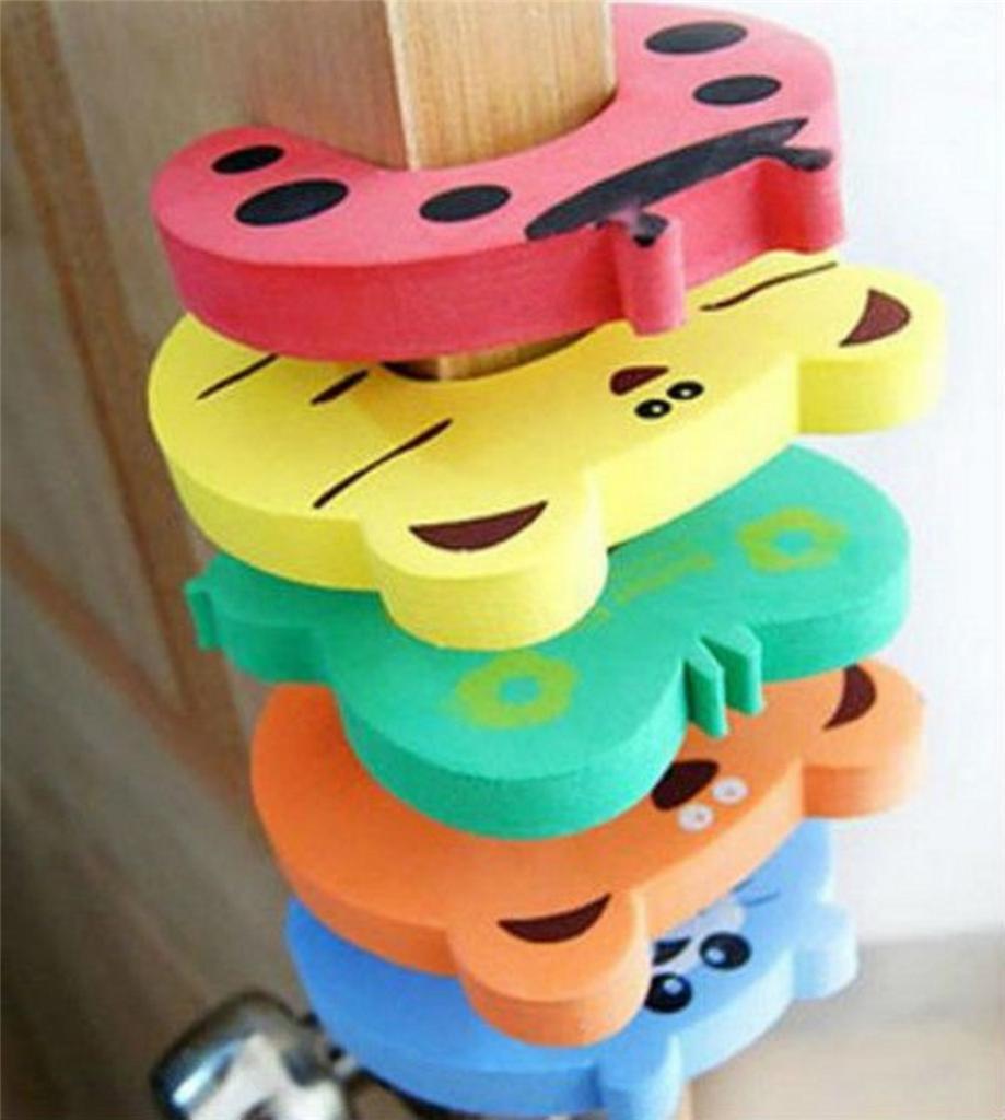 5 pcs child kids baby animal cartoon jammers stop door stopper holder lock safety font b