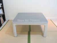 Free shipping Kotatsu plastic folding table Kotatsu heated table reversible top White/grey square 60cm folding table