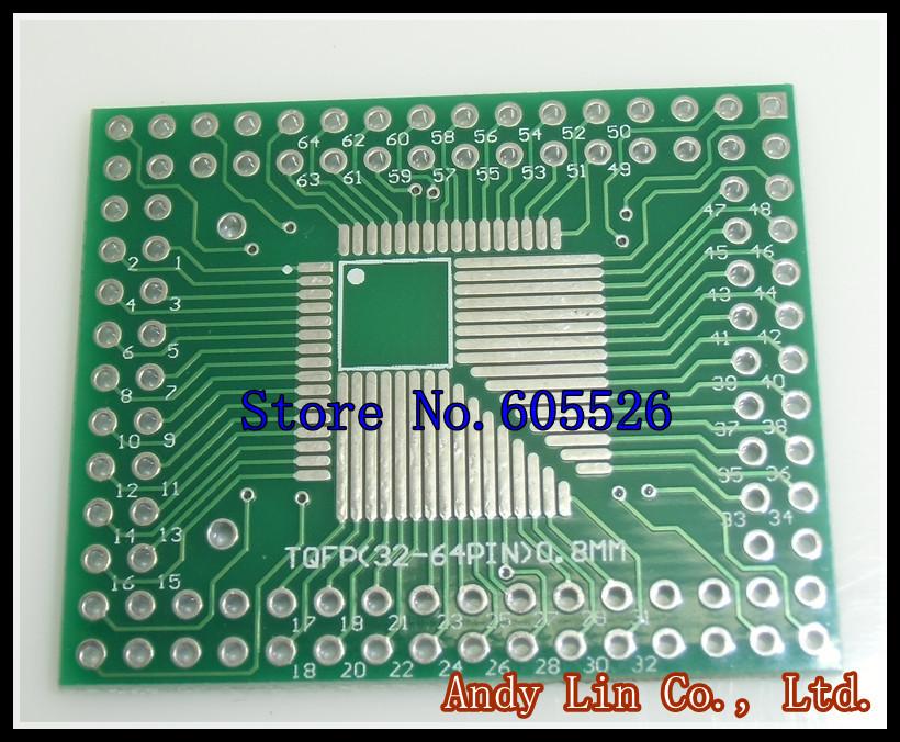 10pcs/LOT QFP TQFP LQFP TQFP32 TQFP44 TQFP64 TQFP80 TQFP100 0.5MM 0.8MM Pitch IC adapter Socket / Adapter plate / PCB(China (Mainland))