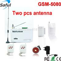 Free shipping 99 Zones  Wireless Home Intelligent Burglar GSM Alarm System with 2 antenna