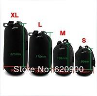 100% GUARANTEE1 pcs  Soft Neoprene Lens Pouch Case Bag M size for  Canon EOS Nikon Sony Len 10cm x 14cm