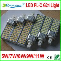 8PCS/LOT Hot Sale G24 LED Cornlight 5W 7W 9W 11W Epistar SMD5050 Light AC85~265V LED Bulb Lamp,3 Years Warranty, LED Corn Light
