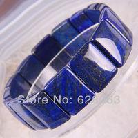 Nature Lapis Beads Bracelet Jewelry 8 Inch Free shipping G423
