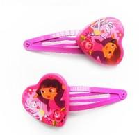 Wholesale Cute Carton print   Hair Pin BB Clip Candy Color Hairpins Hair Side Clips for Children headwear