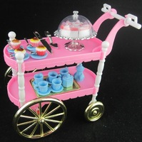 Free shipping hot sell children play toys girls birthday gift cake car accessories for barbie doll