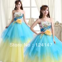 Princess bride dress AQ 2013 long design evening dress formal dress