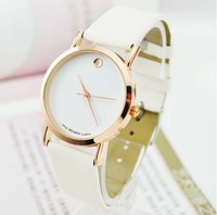 Fashion Gold swiss Luxury Leather Quartz Watch wrist watch Woman men Free Shipping Drop shipping