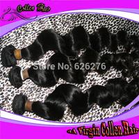 Free shipping 6A Virgin hair: Same Length 4pcs lot,double weft Malaysian hair loose wave hair
