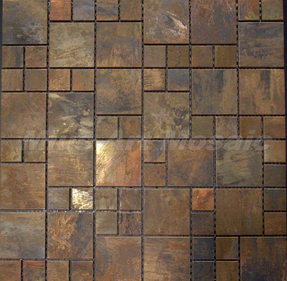 mius art mosaic copper mosaic tile with antique bronze