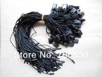 Wholesale Black Sling Plastic String Seal Tag Hang Tag String Garment Hangtag Cord