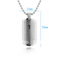 CP0555 Wholesale Retail Fashionable Stainless Steel pendant necklace Dog Tag Pendant Necklace