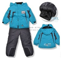 Freeshipping children ski suit kids suits the winter snowsuit set = coat + pant For Boys girls sets sports Beautiful design