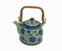 "Pastel Teapot  Porcelain Tea Sets Tea Pot 1000CC "" Blue Peony  ""  From De Hua , China"