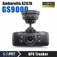 Original GS9000 1080P Car DVR 178 degrees wide Angle GPS 2.7inch LCD  5 Mega H.264 car camera recorder hd camcorder
