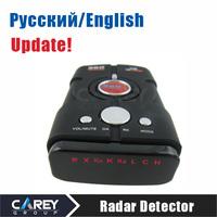 Radar detector Russian/English voice car alarm vehicle speed control Radar detect V8