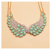 European and American Style Vintage Wings False Collar Crystal Necklace/Women Fashion Jewelry