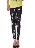 New Women personality Star leggings pants Stretchy  Jeans Leggings trouser