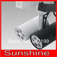 5*1W 5W led track light,led spot lights for clothing store ,white/black color optional,Aluminum shell ,CE Rohs